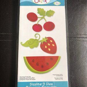 Sizzix Sizzlits Summer Fruits Die *NIB*
